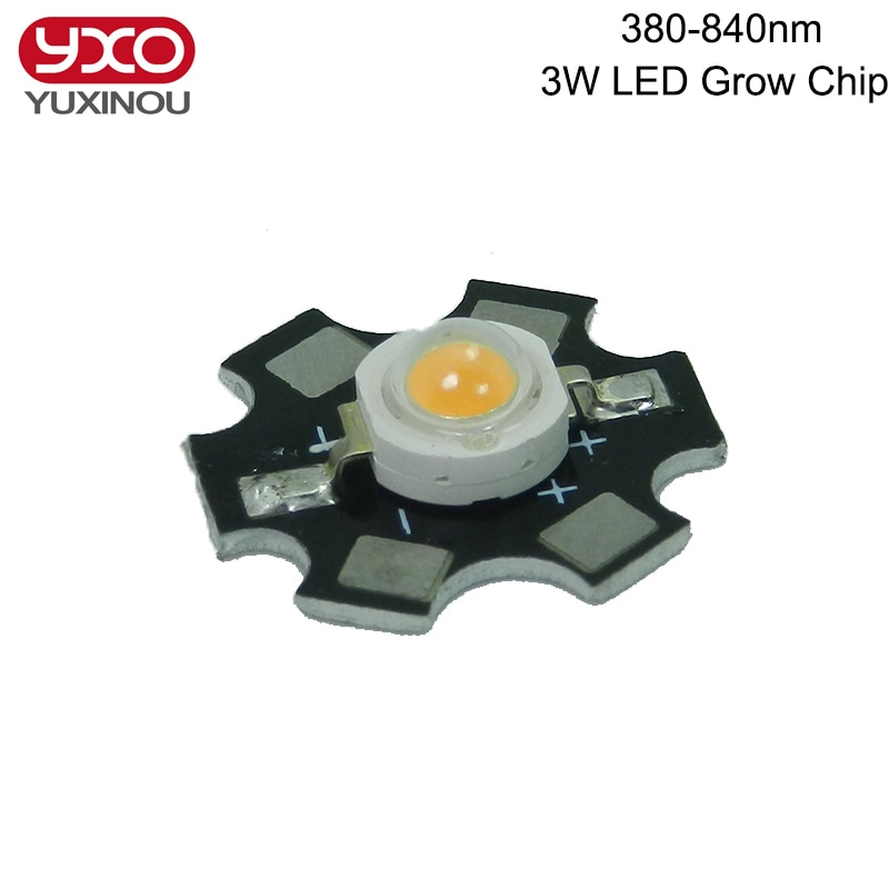 10pcs 1W 3W 5W Volledige Spectrum LEDs Chip Diode 400-840nm Golflengte Roze 30mil 45mil voor indoor groeien en Hydrocultuur LED Lamp