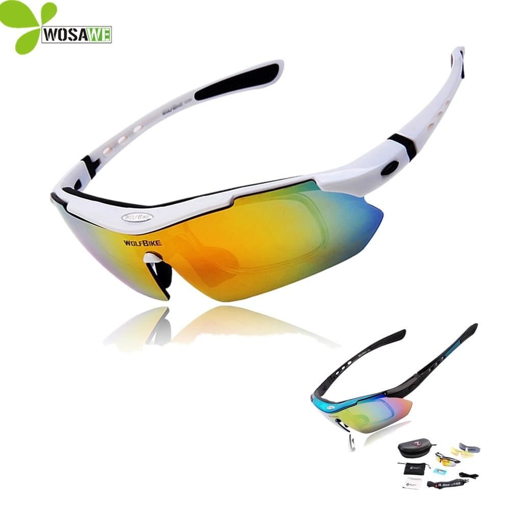 Wolfbike men ciclismo óculos de sol da bicicleta 5 lente uv 400 esporte mtb óculos polarizados ciclismo