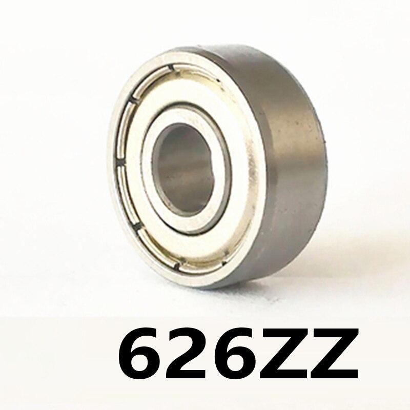 2 unids/lote 626ZZ de bolas de ranura profunda miniatura rodamientos 626ZZ 626-ZZ 6*19*6mm 6*19*6