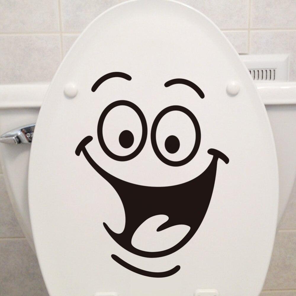 2018 Venda Quente Rosto Sorridente Banheiro Banheiro Decoração Esculpida Adesivos de Parede PVC Impermeável Kicthen Decorativos Decalques Mural Art 1 PC