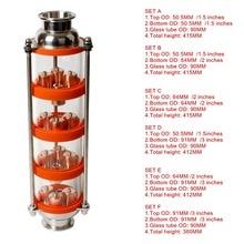 Nouvelle colonne de Distillation à bulles de cuivre   Avec 4 sections pour le distillateur, colonne de verre