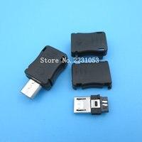 20 шт./лот Micro USB 5-контактный Т-Порт Штекерный разъем с пластиковой крышкой для DIY адаптера PCB SDA кабель для передачи данных