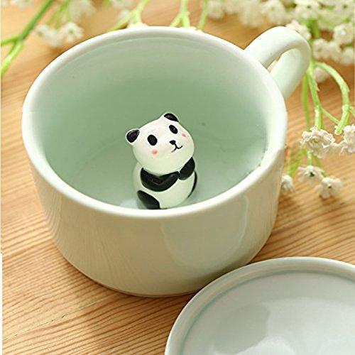 Новый кофе молочный чай керамические кружки-3D Животные утренняя чашка с пандой внутри лучший подарок для утреннего напитка свадьбы дни рождения