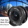 8mm F3.8 Fish-eye C monture grand Angle Fisheye lentille focale poisson eye costume pour Panasonic Olympus Micro quatre tiers M4/3