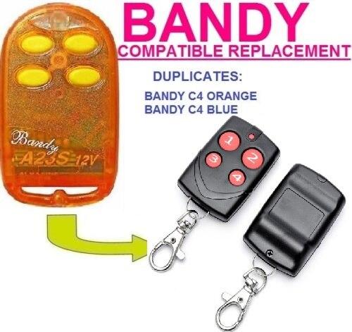 Para Bandy C4 Blue, Bandy C4 naranja, transmisor de control remoto Universal, código fijo para puerta de garaje