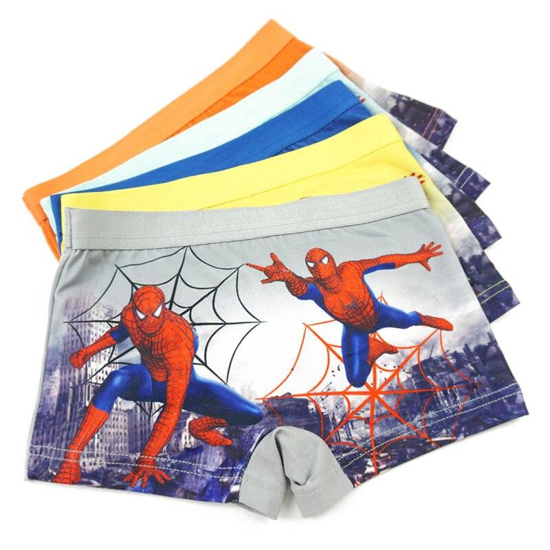 12 Pcs/Lot Boys Underpants Cartoon Spiderman Underwears Baby Kids Panties Children Boxer Briefs Mixed Teenagers Underwears