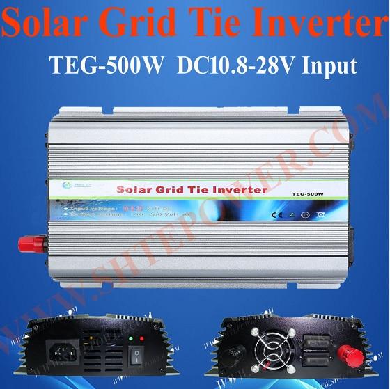 DC 10.8-28V to AC 220V 230V 240V Solar Grid Tie Controller Inverter 500W