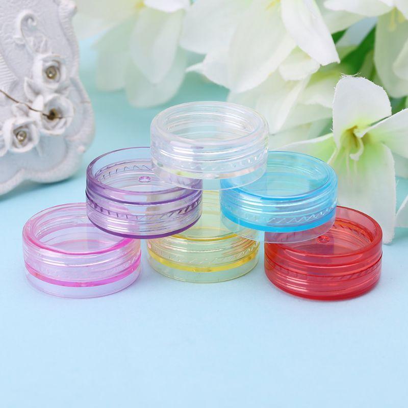 2g Mini Cosmetic Empty Jar Pots Eyeshadow Makeup Face Cream Container Bead Nail Art Lip Balm Bottle