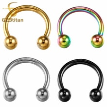 G23titan G23 herradura de titanio 16G Circular Barbell nariz anillos Piercing de perno para cuerpo ombligo joyería