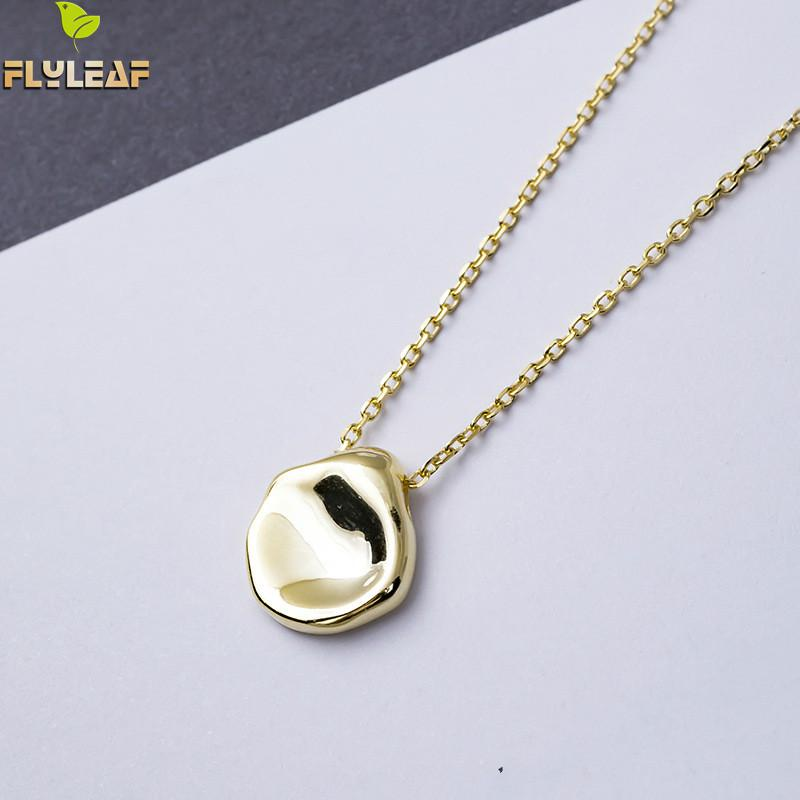 Flyleaf золото серебристый неправильной формы в форме ожерелья и подвески для женщин Личность леди 100% Серебро 925 пробы модные ювелирные издели...