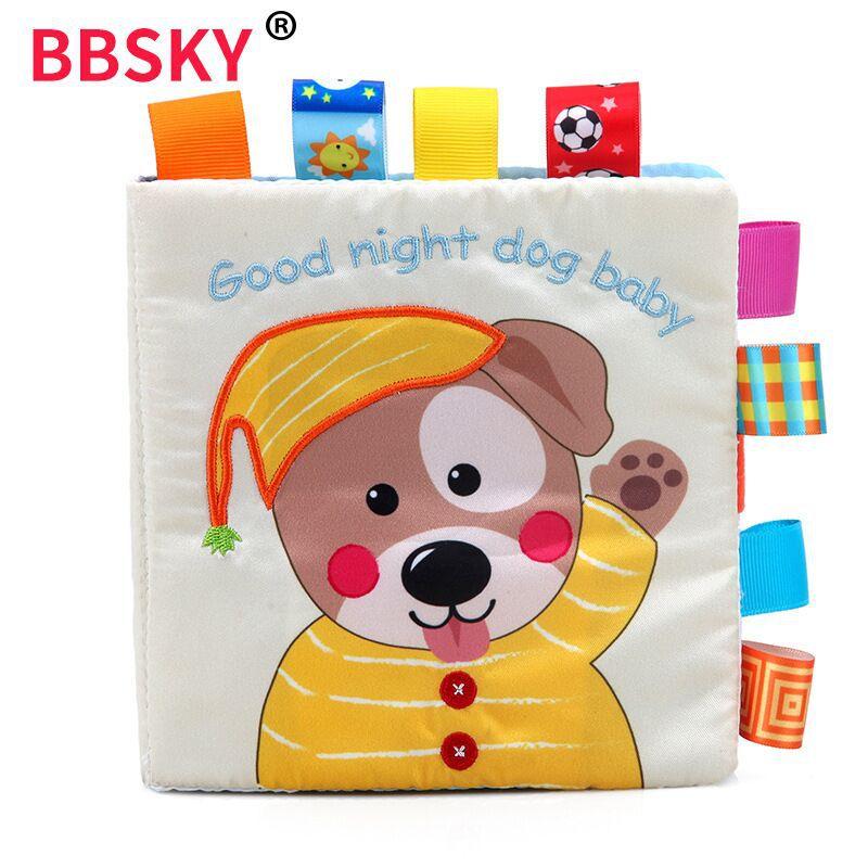 Baby Tuch Buch für Kinder Sound Pädagogisches Spielzeug für Kinder Aktivität Ruhig Buch Englisch Frühen Lernen Ressourcen Sensorischen Buch
