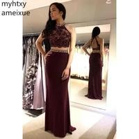 2021 new sexy elegant evening dresse a line prom dresss floor length backlesstwo pieces evening gowns custom made robe de soiree
