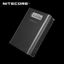 Gold Winnaar 2019 ISPO Award NITECORE F4 2 in 1 Vier-slot Flexibele Power Bank & Battery Charger met LCD Display