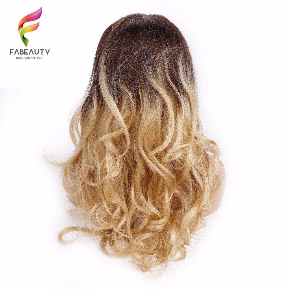 Pelucas de encaje Rubio degradado, pelucas de cabello humano Frontal de onda de encaje peruano de 150% de densidad, peluca Frontal de encaje Remy recoloreado de 26 pulgadas