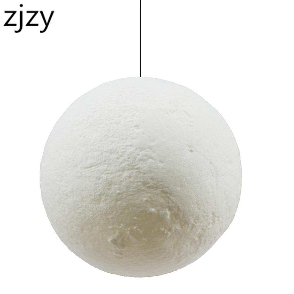 New Arrival Hanging 13-20cm Globe 3D Moon Lamp Remote Control RGB LED Night Light USB Moonlight Wood Stand