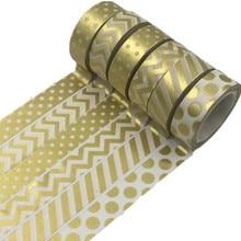 1 Pcs Golden Dot Twill Japanese Paper Washi Tape Set Scrapbooking Decorative Tapes Honeycomb For Photo Album Home Decoration