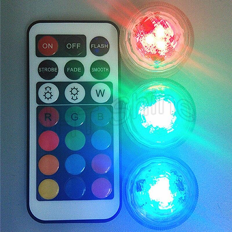 30x Fernbedienung Tauch LED Tee Mini Licht Mit Batterie Party Hochzeit Weihnachten Decor Halloween Shisha Shisha Tisch