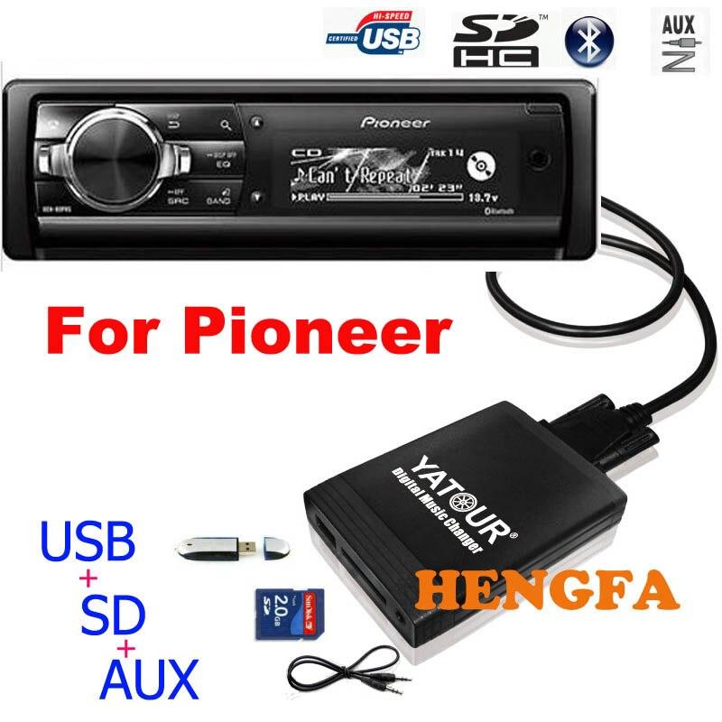 Автомобильный MP3 плеер Yatour, аудио MP3 плеер для Pioneer DEH-P900, KEH-P6200-W, цифровой музыкальный смены, USB, MP3, AUX адаптер, BT