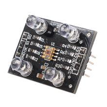 TCS230 TCS3200 Module de détecteur de capteur de reconnaissance de couleur entrée cc 3-5V Compatible avec Arduino