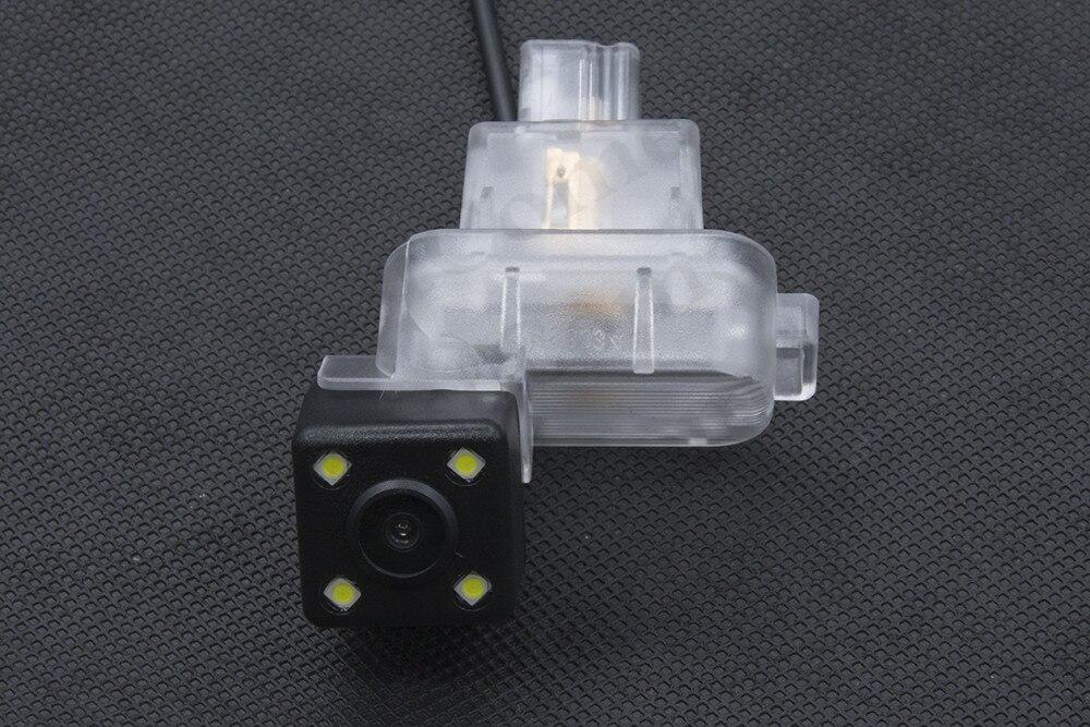 Impermeable 4LED visión trasera para aparcamiento de coche cámara para Mazda 6, 2009, 2010, 2011, 2012, 2013, 2014 CCD visión nocturna cámara de marcha atrás de coche