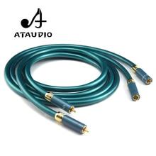 ATAUDIO Hifi RCA câble amplificateur CD haut de gamme interconnecter 2RCA à 2RCA câble Audio mâle 1m 2M