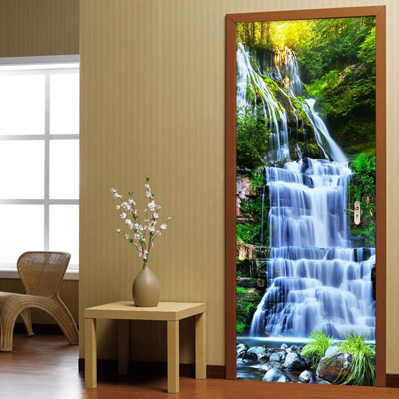 3D стерео водопады, Настенные обои для гостиной, учебы, классические фотообои, настенное украшение, домашний декор