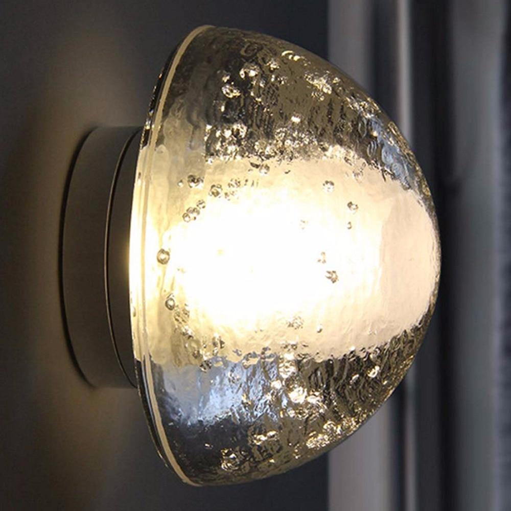 Moderno claro K9 Globo de Cristal candelabros para luces de pared gota de agua bola lámpara de pared espejo frontal dormitorio cabecera pasillo escalera Luz