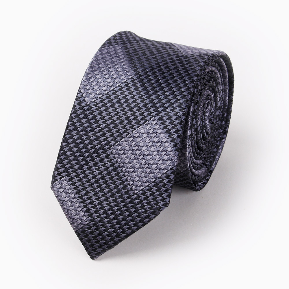 New men's polyester neck tie Fashion casual youth plaid jacquard neck tie Wedding groom tie accessories