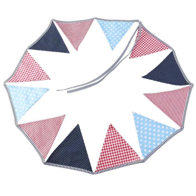 Guirnalda de fiesta Vintage para bebé, guirnalda de banderines triangular para cumpleaños para niños, banderas de fiesta de tela de algodón