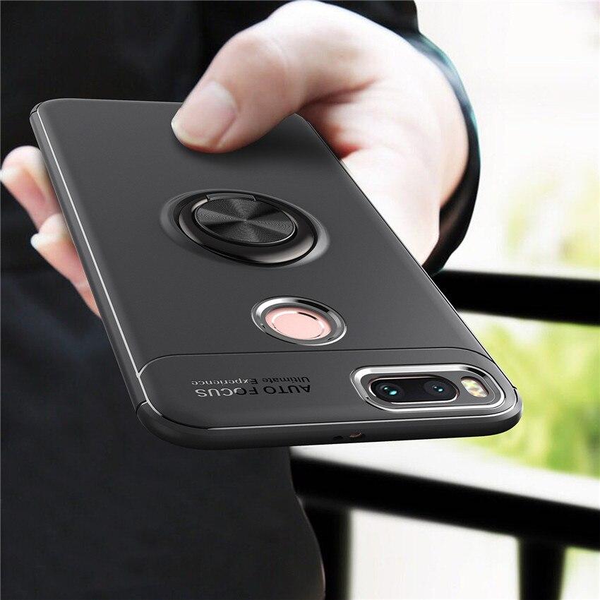 Магнитный автомобильный держатель, чехол для Xiaomi Mi A1 A2 A3, силиконовый металлический кольцевой Магнитный чехол для Xiaomi Mi Note 3 mix 2s mi6 Xiaomi redmi 4x