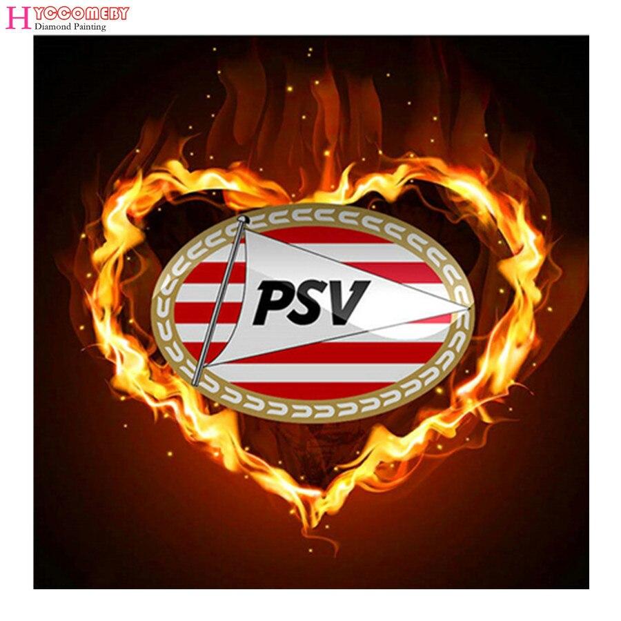 "football ""PSV"" logo ajax 5d diy diamond embroidery, full diamond painting, diamond cross stitch mosaic, needlework 2018 new hot"