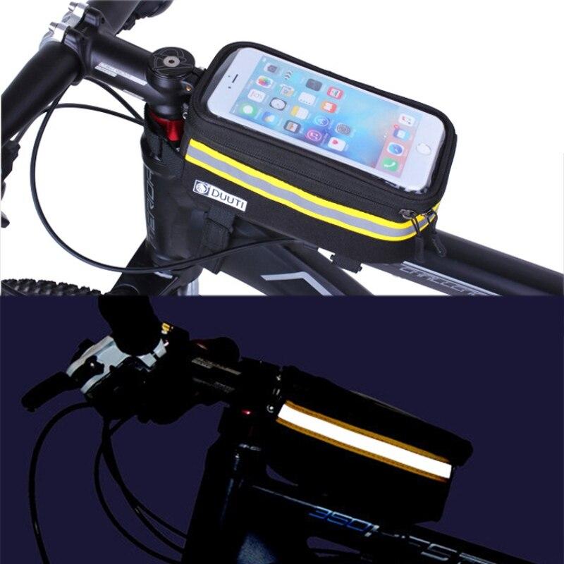 2017 водонепроницаемый чехол для телефона с сенсорным экраном, отражающая сумка, трубка велосипедной рамы, корзина для велосипеда на открыто...