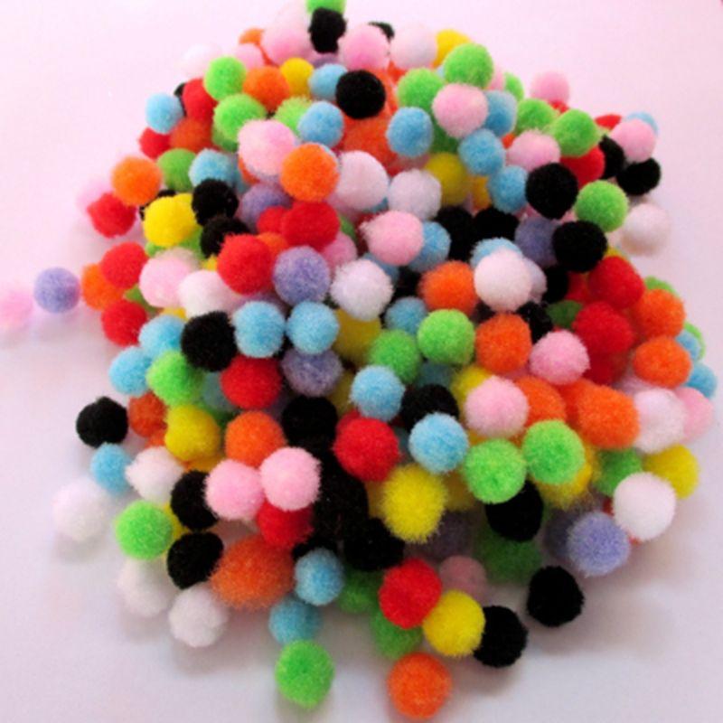 1000 unids/lote 9 colores diámetro 10mm DIY decoración pompón Bola de Pelo bola artesanías fiesta favores Festival suministros para eventos 7403