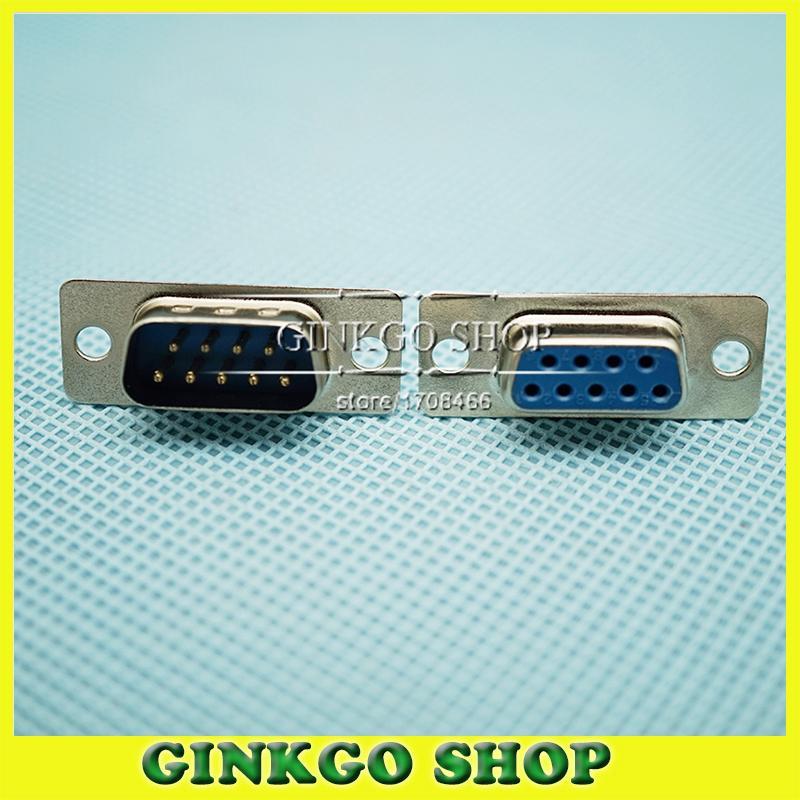 5 jogos/lote DP9 Feminino & Masculino soquete jack 9pin 2-linhas porta serial DP9 Conector De Solda Tipo placa-insert