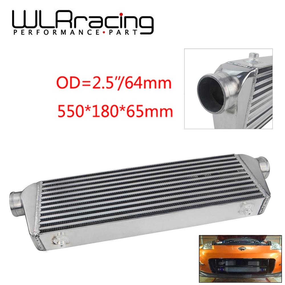 "WLR Racing-550*180*65mm radiador Turbo universal bar y placa OD 2,5 ""montaje frontal intercooler WLR-IN812-25"