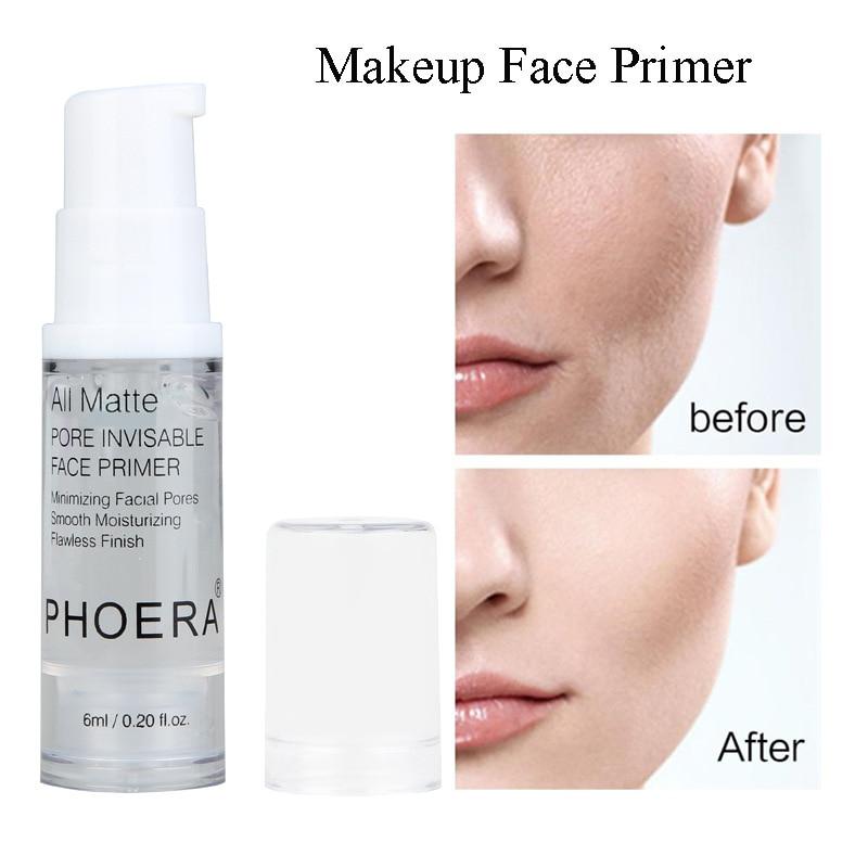 Base facial hidratante, Base para maquillaje, Control de aceite, larga duración, brillante,...