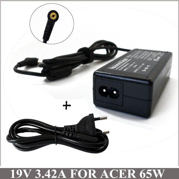 19 V 3.42A 65 W Universal portátil adaptador de corriente cargador de portátil para Acer Aspire V3-571 V3-731 V5-171 V5-471 V5-531 V5-571 v5-571G