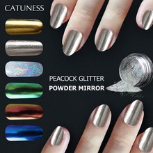 CATUNESS 1G longue durée ongles paillettes brillant miroir ombre à paupières maquillage poudre poussière manucure Art Chrome Pigment paillettes