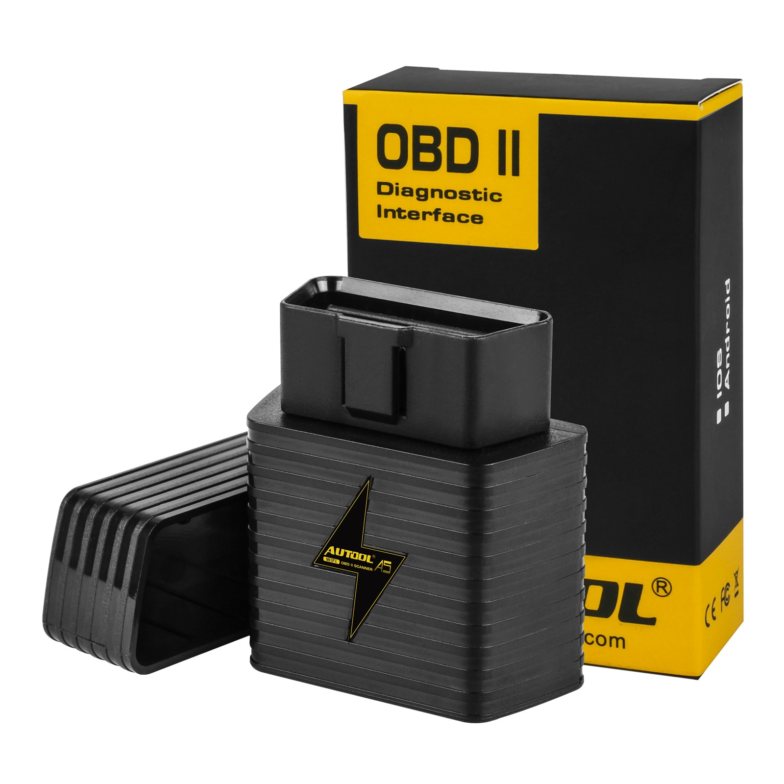 AUTOOL A5 WIFI Bluetooth ELM327 OBD2 OBDII escáner del motor del coche del lector de código de Auto herramienta de diagnóstico adaptador para Android IOS