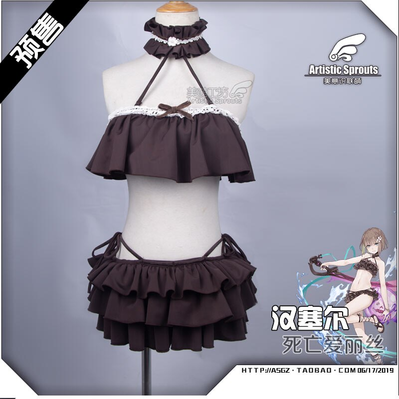 Anime sinoalice hansel gretel maiô cosplay traje doce lolita vestido de verão h