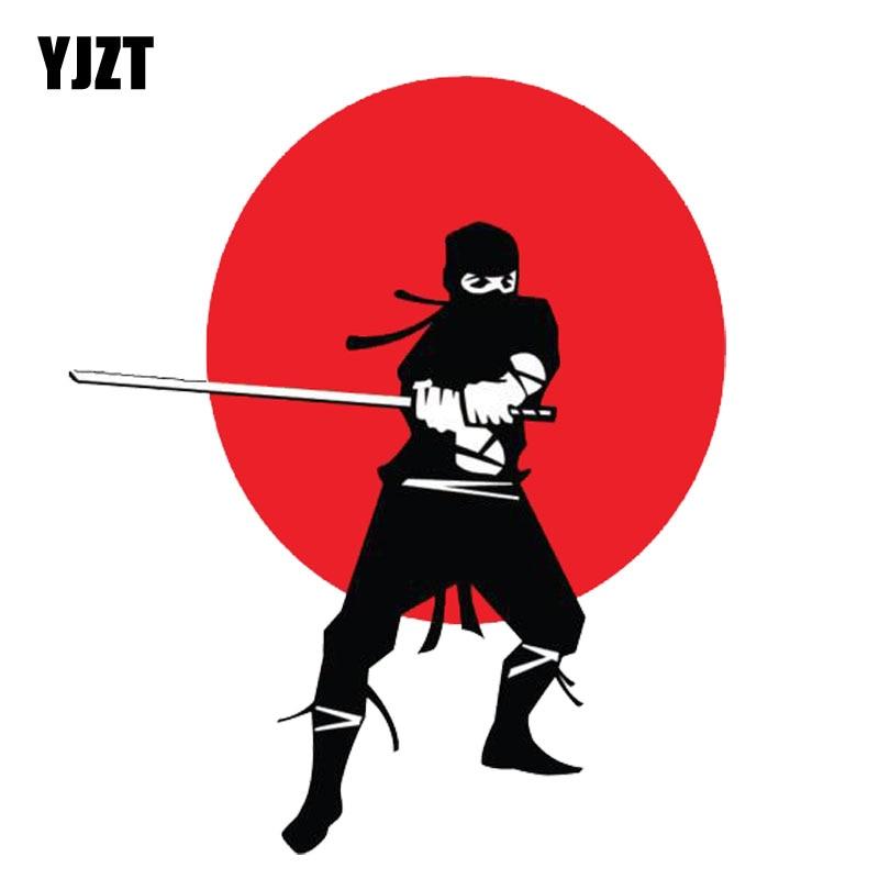 YJZT 12,8 CM * 15,2 CM lindo Ninja Guerrero lucha pegatina PVC para coche 11-00203