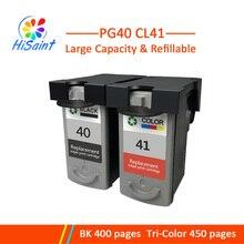 Hisaint pas cher cartouche dencre Compatible pour Canon PG40 PG41 CL41, pour Canon PIXMA iP1200 iP1300 1600 1700 1800 1900 2200 imprimante