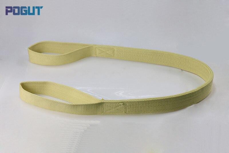 Alta Qualidade Correia de Fibra de Kevlar Calor-resistente ao Fogo-retardant Levantamento Sling 3 Toneladas