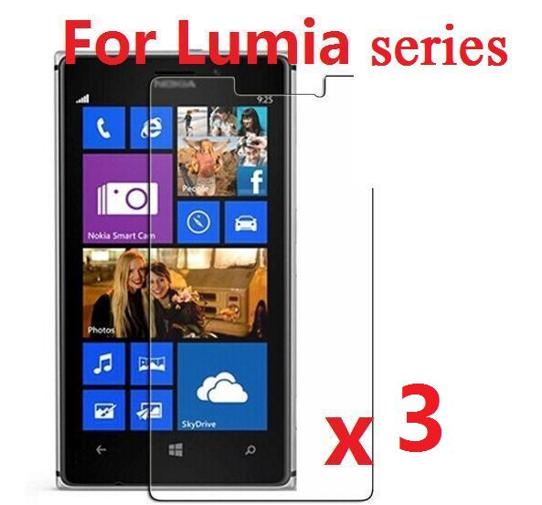Прозрачная защитная пленка Экран защитная плёнка для НУА Вэй защитный чехол с подставкой и отделениями для карт для Nokia Lumia 930 929 925 650 640 XL 630 540 535 1020 1320 1520 3 шт./партия