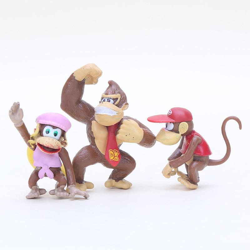 Ensemble de figurines Super Mario Bros, jouets figurines Luigi Wario Waluigi Donkey kong Toad pêche, champignon Boo