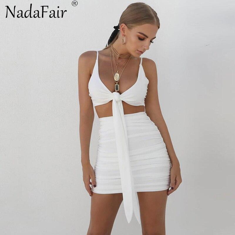 Nadaffair cinta sem costas vestido de verão branco preto sexy clube bodycon vestido de festa vestidos casuais