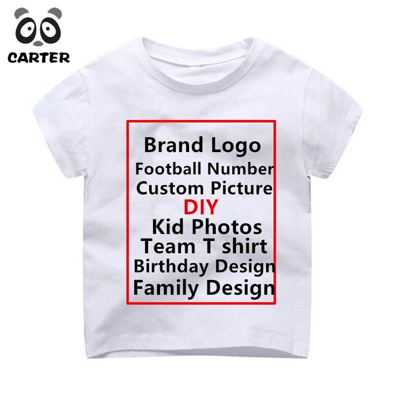 Los niños T camisa chico Impresión de logotipos y marcas de impresión Camisetas Bebé cumpleaños T camisa chico camisetas de niños y niñas camiseta de bricolaje