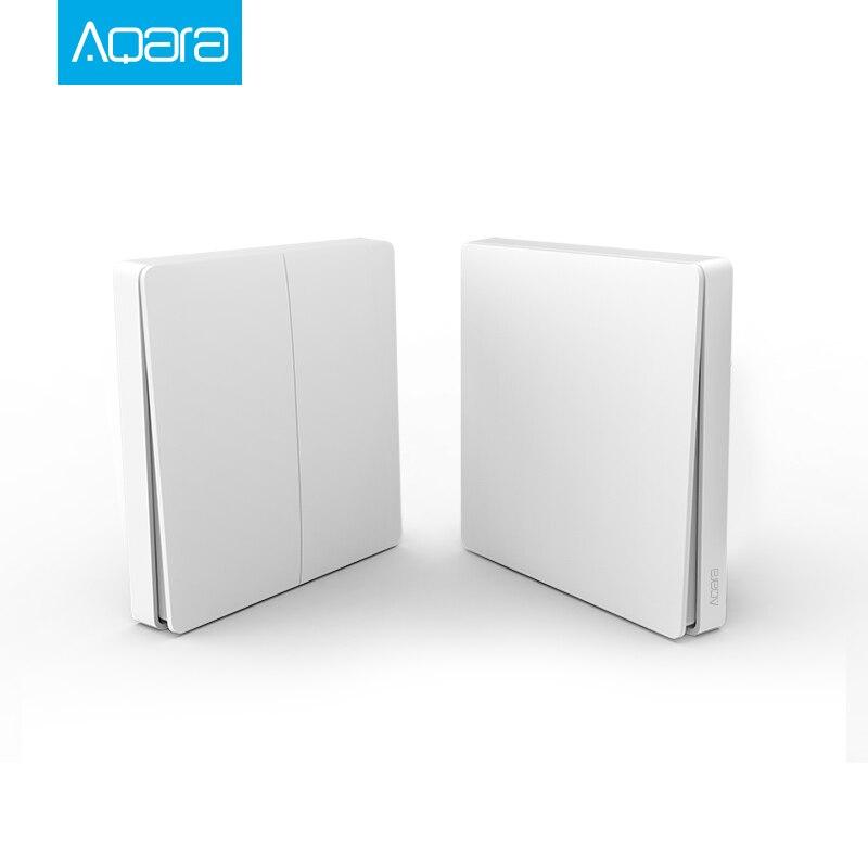 Interruptor de luz inteligente Original Aqara con Control remoto ZiGBee wifi interruptor de pared inalámbrico funciona con aplicación de hogar inteligente