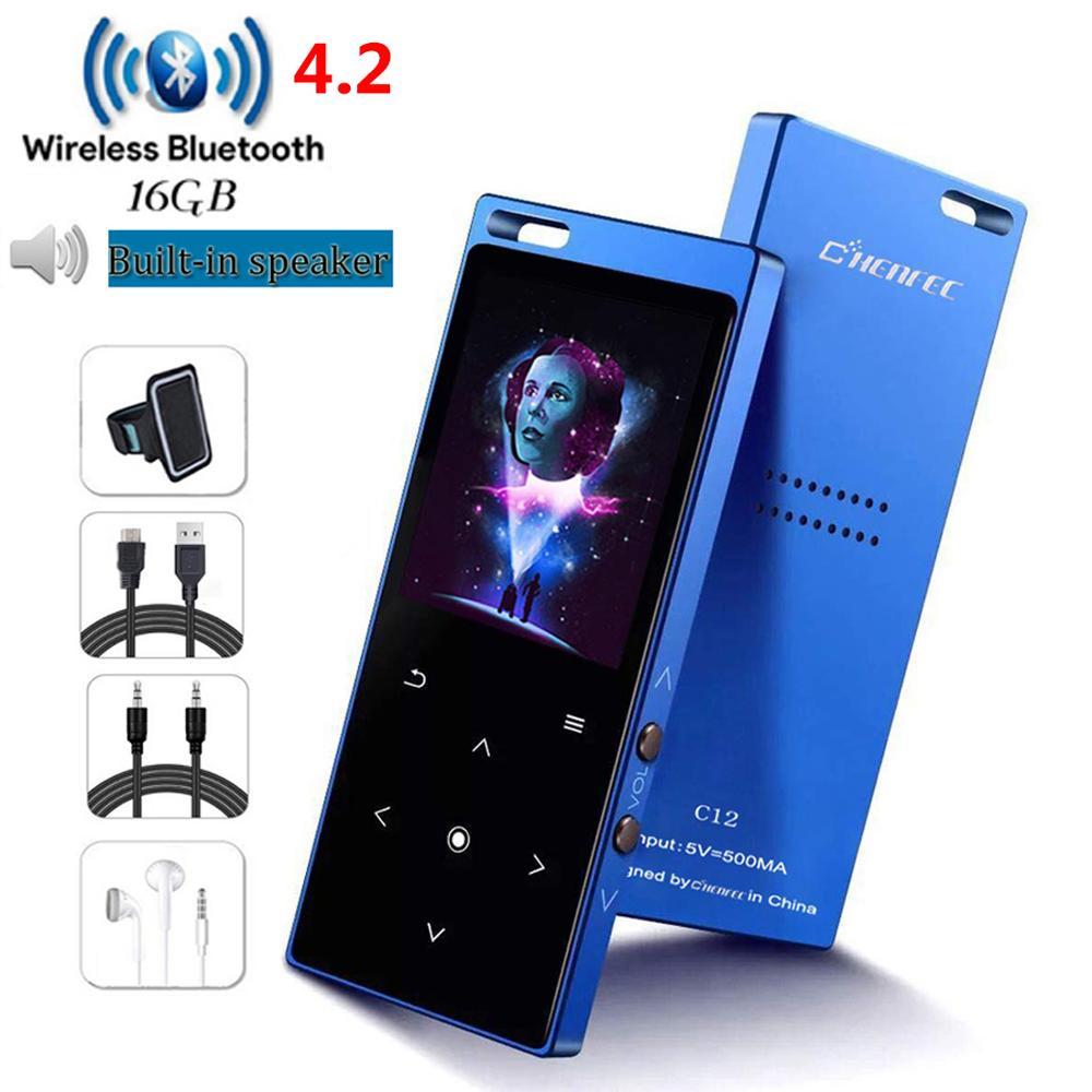 Портативный Bluetooth 4,2 MP3 плеер 8 ГБ/16 ГБ с динамиком HIFI музыка с FM видео запись электронная книга Walkman Mini SD до 128 г