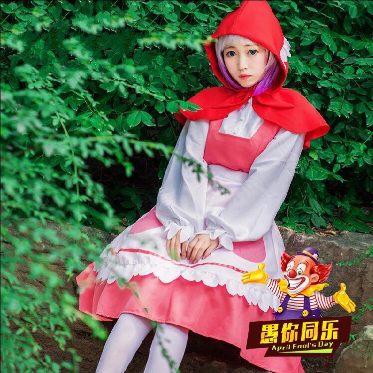 Anime Miss Kobayashis Dragon Maid Kanna traje de mucama Cosplay uniformes conjunto completo vestido para niña Cosplay disfraz